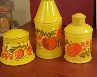 Vintage Avon Pennsylvania Dutch 3 piece Hand and Body cream jars