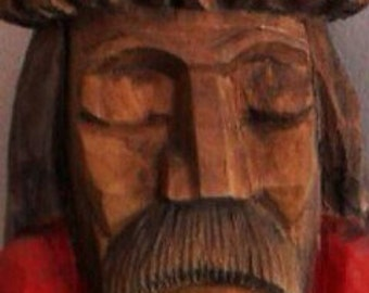 Wooden Jesus , hand carv , late 1950's , from eastern Europe