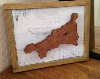 Cornwall County Reclaimed Wooden Wall Sign
