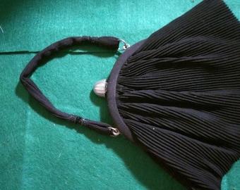 Vintage black accordian style bag