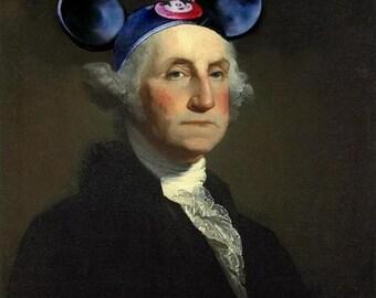 Mouseketeer Washington - 13 X 19 Fine Art Print