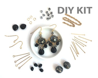 DIY Earring Kit, Jewelry Making, Beading Kit, Bead Kit, Dangle Bead Earring, Victorian Earring, EP005