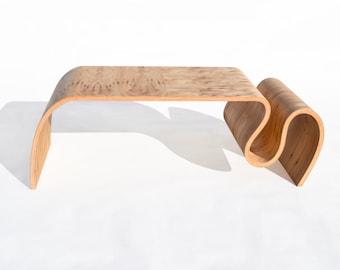 Crazy Carpet Table in rustic Elm