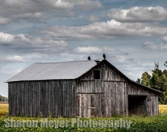 Heartland Barn - Fine Art Photo Print, Wall Decor, Barn Photograph, Farm, Landscape, Indiana Barn