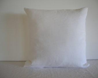 White Linen 16x16 Pillow Cover
