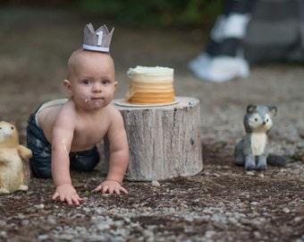 First Birthday Boy || First Birthday Crown || 1st Birthday || Birthday Crown Boy || Little Blue Olive