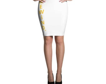Pencil Skirt Great for any Ocassion. Sporty and Fun. REWiND. ™  L&T, LLC.
