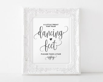 Dancing Shoes Sign, Dancing Feet Sign, Wedding Dancing Shoes Sign, Wedding Printable, Wedding Sign, PDF Instant Download #BPB203_74