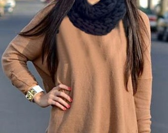 Colorful Cozy, It is so comfortable and cozy, Neck Warmer Scarf Mitten, Women's fashion, Winter accessories /// Gloveshop