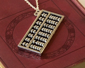 Working Abacus Necklace - Maths Gifts - Math Teacher Gift - Math Geek