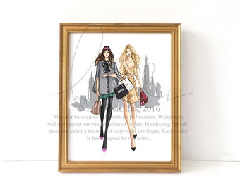 XOXO (Fashion Illustration Print)
