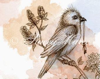 "The Bird - ""Woodland Creatures"" series Art Print"