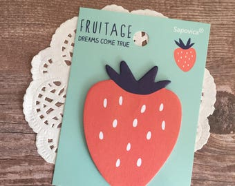 Strawberry Strawberries Fruit Sticky Notes - Self Stick Note - Kawaii Stationery