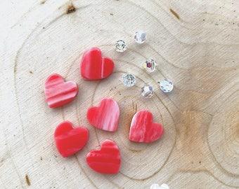 Heart and Swarovski Bead Kit- DIY Jewelry