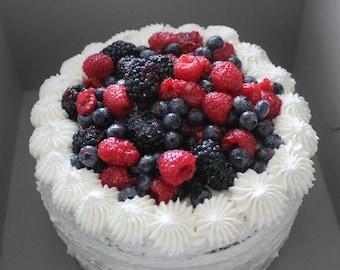 Vanilla Chiffon Fruit Cake by Little Hope Cakes LLC