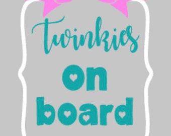 Twinkies on Board decal