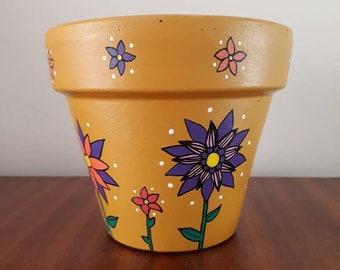 Mustard Flower Plant Pot
