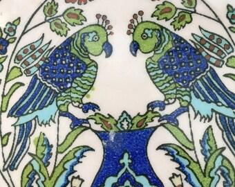 Italian made round ceramic trivet