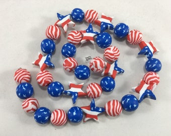 Red, White & Blue USA Patriotic beads