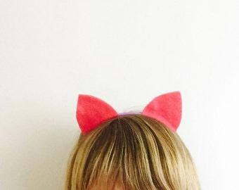 Cat Ears Headband, Pink Pussy Cat Ears