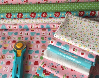 Bake Sale 2 by Lori Holt for Riley Blake Designs 7 Fat Quarter Fabric Bundle