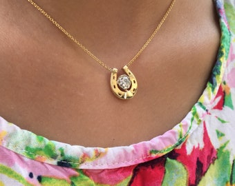 18K Diamond Horseshoe Necklace