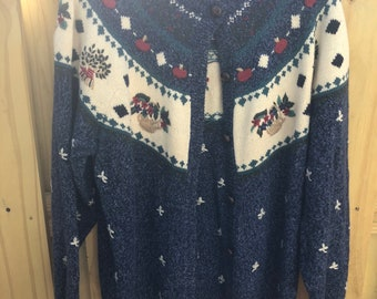 Women's Vintage Knit Sweater with Floral Design from Northern Reflections