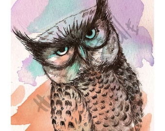 Owlie -  Postcard Print