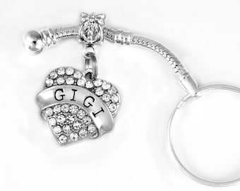 Gigi key chain fits European style and keychain GIGI jewelry GIGI gift I love GIGI best jewelry gift