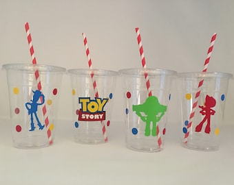 Toy Story Party cups, Toy Story Birthday Party, Woody Birthday Party, Jessie Birthday Party