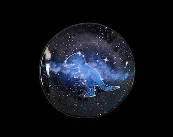 "ceramic plate ""Space Rex"" constellation, 2 designs"