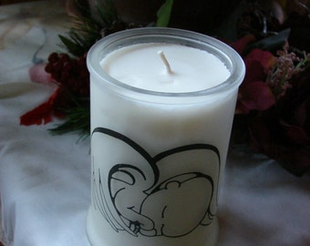 Angel Baby 12 oz. Frosted Soy Container Candle