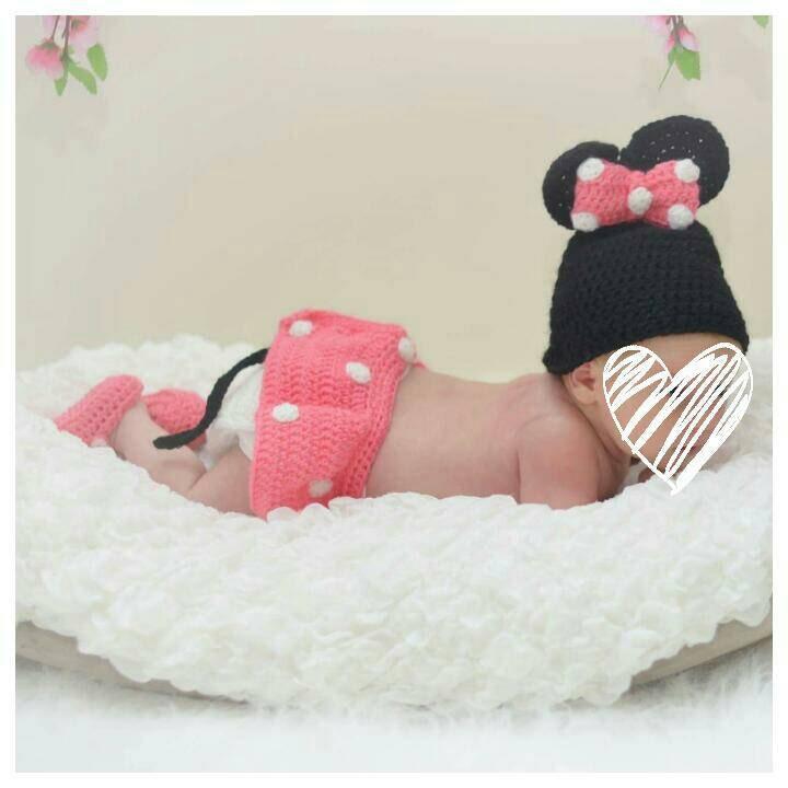 Neugeborene Mädchen Foto Outfit Minnie Maus Kostüm Baby Girl