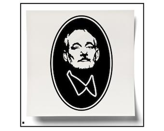 Bill Murray Decal, Bill Murray Portrait , Bill Murray, Silhouette, Murray Silhouette, Bill Murray Face, Car Decal, Car Sticker, Yeti Sticker