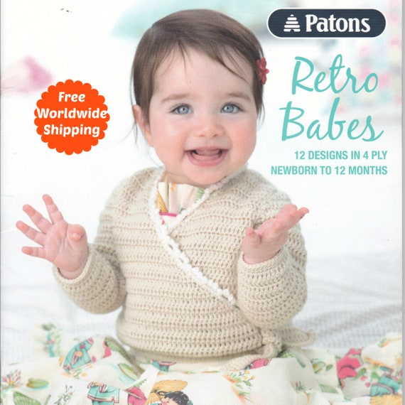 Baby Knitting Patterns Book Retro Babes 1306 Baby Girl Clothes Baby