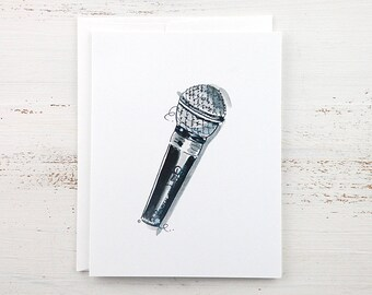 Microphone Note Card