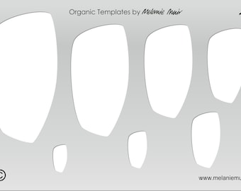 No 12 Clear Acrylic Template/Stencil for Polymer/Metal Clay/Jewellery/Crafting