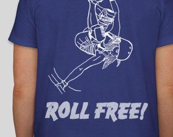 Women and Girls Skateboard T-shirt