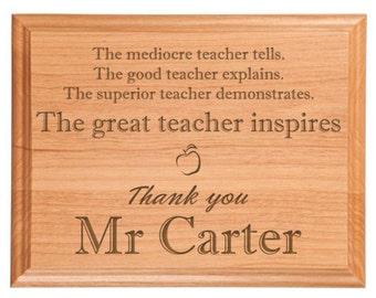Great Teacher Plaque