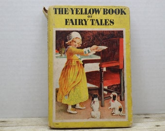 The Yellow Book of Fairy Tales, 1950, Whitman publishing, vintage kids book