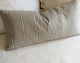 Gray black stripes  pillow cover 18x18 20x20 22x22 24x24 26x26 13x26 12x20