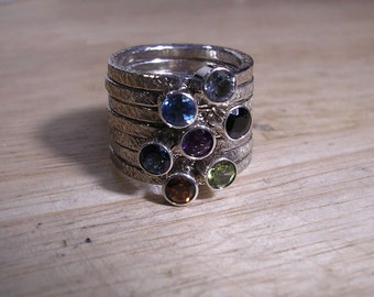 One Stacker Ring With Stone