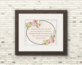 Still Missed Print - Loved Ones Lost Gifts - 8x10 Art Print - Funeral Poems