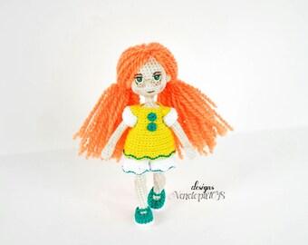 Pattern Doll EVA, amigurumi crochet doll, crochet doll pattern, amugurumi pattern, pdf pattern