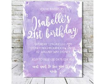 Birthday Invite Print || 18th, 21st Birthday Print