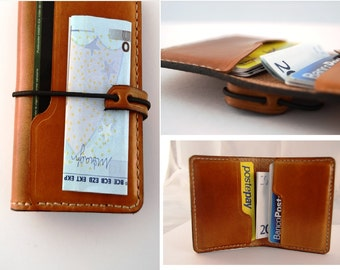 wallet leather handmade credit card portafoglio portaschede monete credit card  italy book