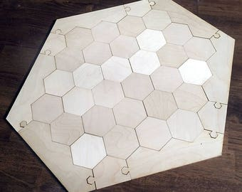 "Blank 5-6 Player Settlers of Catan Game Board, Flat Style - Unfinished Birch Plywood 1/8"" or 1/4"""