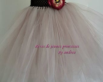 Soft and grey tulle tutu skirt, skirt, ceremony, dance