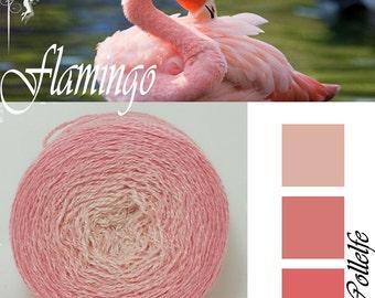 Flamingo* Merino silk Gradient Yarn hand dyed - Lace weight