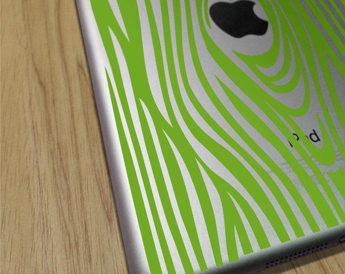 woodgrain iPad sticker decal, vinyl art, faux bois sticker art, iPad mini, iPad air sticker, FREE SHIPPING